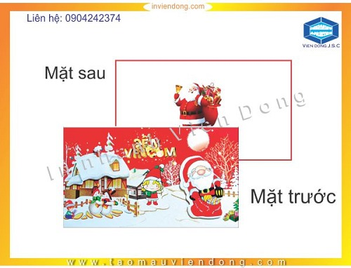 Mẫu thiệp noel 2014 mới nhất | In thiệp chúc mừng Noel lấy ngay giá rẻ | In Nhanh | In Lay Ngay