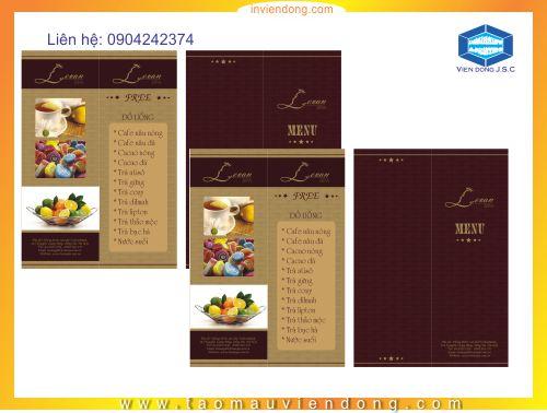 Những mẫu menu đẹp   In menu cafe   In nhanh