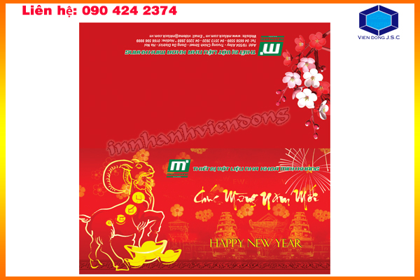 Mẫu thiệp chúc mừng năm mới 2016 | In Nhanh ; In Lay Ngay ; In Vo hop ; In Name Card ; In tui nilon ; in thiep