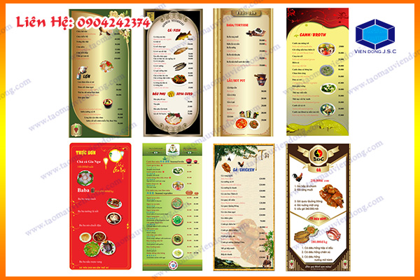 In menu cafe | In Nhanh ; In Lay Ngay ; In Vo hop ; In Name Card ; In tui nilon ; in thiep