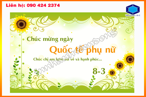 In thiệp chúc mừng 8-3 lấy ngay | In Nhanh ; In Lay Ngay ; In Vo hop ; In Name Card ; In tui nilon ; in thiep