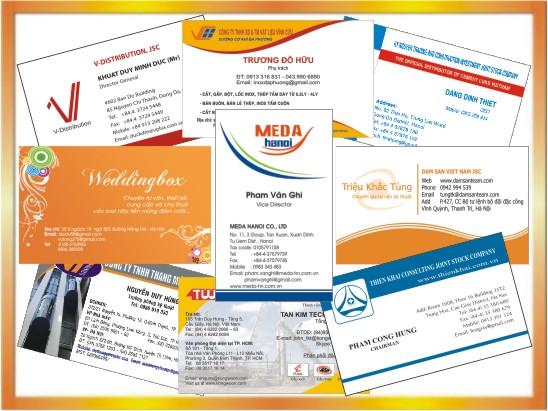 In Name Card, In Name Card đẹp, In danh thiếp giá rẻ tại Hà Nội