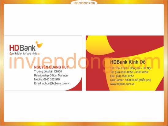 In Card visit đẹp, thiết kế độc đáo tại Hà Nội - ĐT: 0904242374
