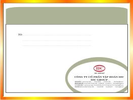 Địa chỉ In phong bì thư tại Hà Nội -ĐT: 0904242374